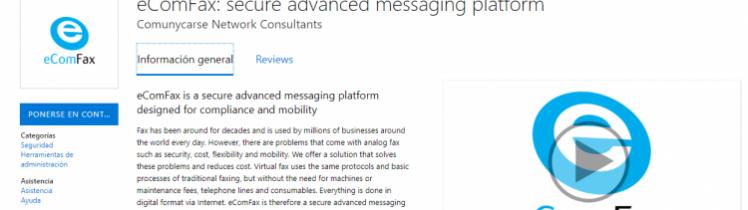 eComFax ahora está disponible en Azure y AppSource de Microsoft®