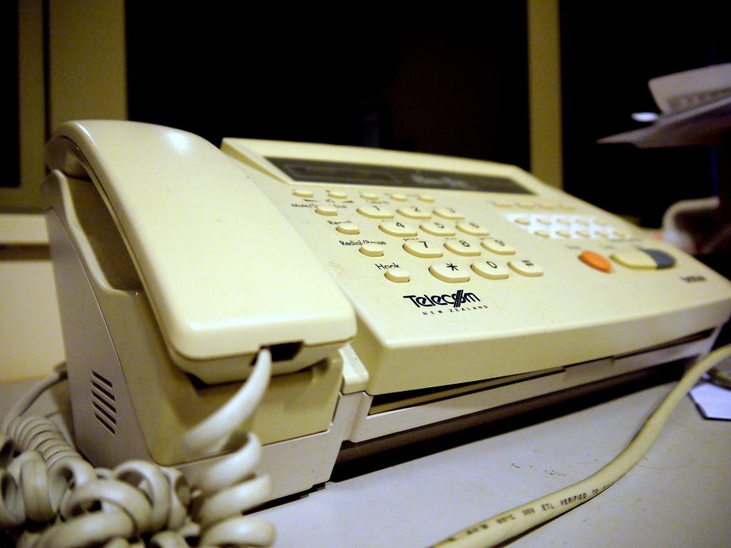 maquina de fax tradicional